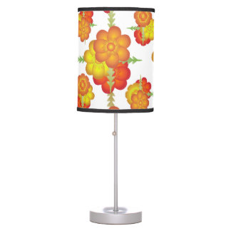 Colorful Stylized Floral Pattern Table Lamps