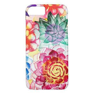 Colorful Succulent Plants Artsy Watercolor Case-Mate iPhone Case