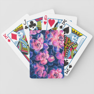 Colorful Succulent Plants Bicycle Playing Cards