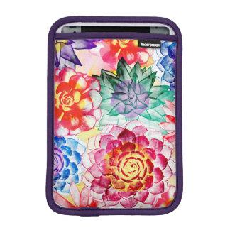 Colorful Succulent Plants Cute Watercolor iPad Mini Sleeve