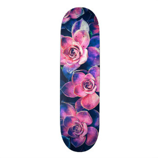 Colorful Succulent Plants Skate Boards