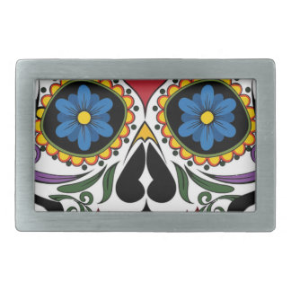 Colorful Sugar Skull Belt Buckles