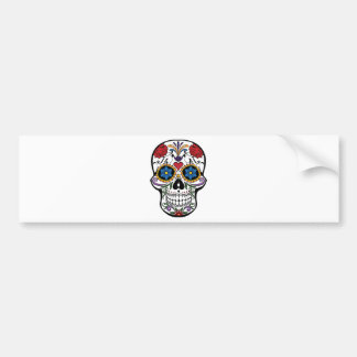Colorful Sugar Skull Bumper Sticker