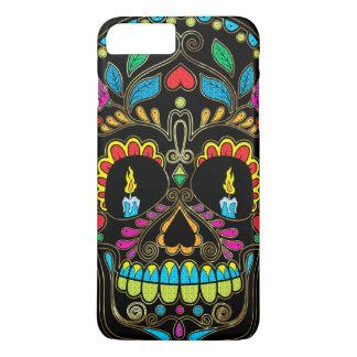 Colorful Sugar Skull Burning Candles iPhone 7 Plus Case