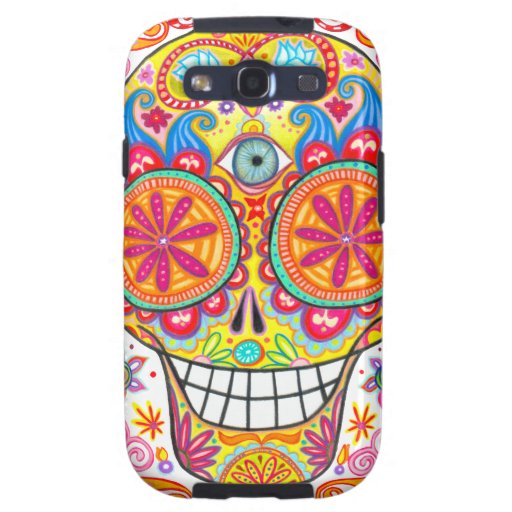 Colorful Sugar Skull Samsung Galaxy S3 Cover