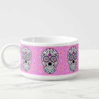 Colorful Sugar Skull Chili Bowl