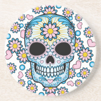 Colorful Sugar Skull Coasters