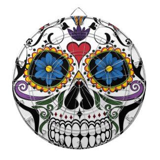 Colorful Sugar Skull Dartboard With Darts
