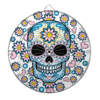 Colorful Sugar Skull Dartboards