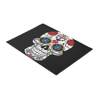 Colorful Sugar Skull Door Mat