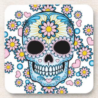 Colorful Sugar Skull Drink Coasters