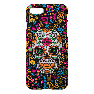 Colorful Sugar Skull & Flowers Pattern iPhone 8/7 Case