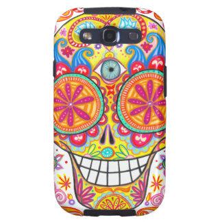 Colorful Sugar Skull Galaxy SIII Case