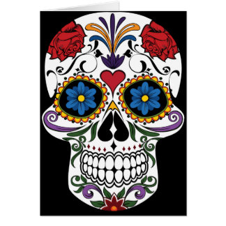 Colorful Sugar Skull Greeting Card