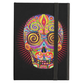 Colorful Sugar Skull iPad Case with Kickstand