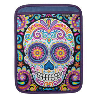 Colorful Sugar Skull iPad Sleeve - Day of the Dead