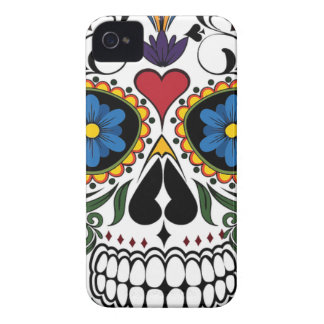 Colorful Sugar Skull iPhone 4 Covers