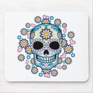 Colorful Sugar Skull Mouse Pad