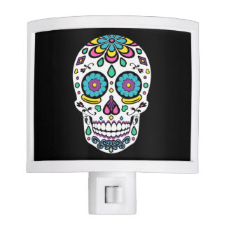 Colorful Sugar Skull Night Lights