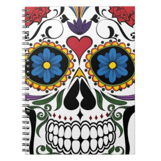 Colorful Sugar Skull Notebook