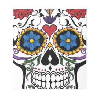 Colorful Sugar Skull Notepad