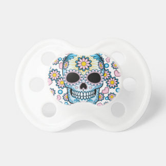 Colorful Sugar Skull Pacifier