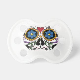 Colorful Sugar Skull Pacifier