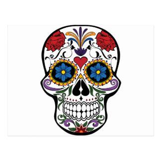 Colorful Sugar Skull Postcard