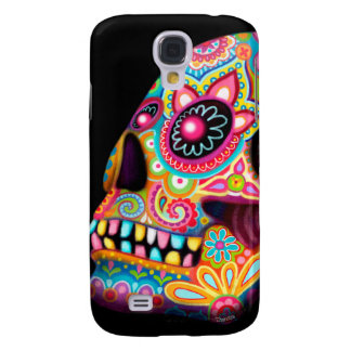 Colorful Sugar Skull Samsung Galaxy S4 Case