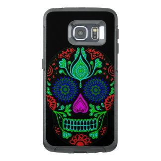 Colorful Sugar Skull Samsung Galaxy S6 Edge Case