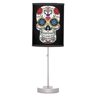 Colorful Sugar Skull Table Lamp
