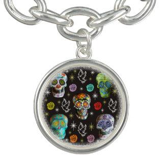 Colorful Sugar Skulls Bracelet