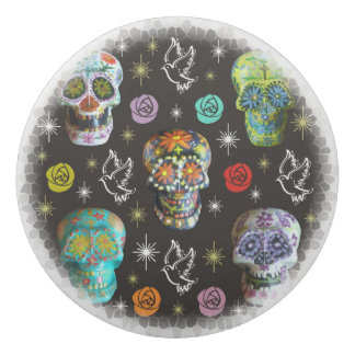Colorful Sugar Skulls Eraser