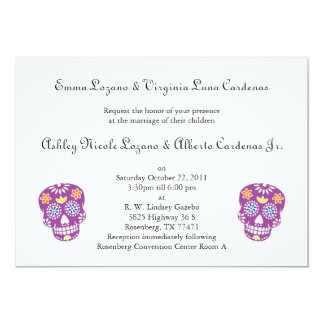 Colorful Sugar Skulls Invitation