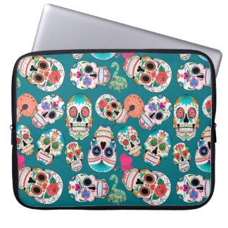 Colorful Sugar Skulls Laptop Sleeve