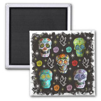 Colorful Sugar Skulls Magnet
