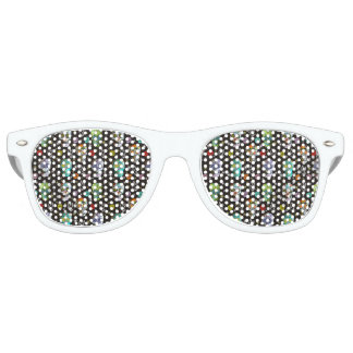 Colorful Sugar Skulls Retro Sunglasses