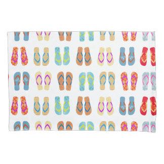 Colorful Summer Beach Flip Flops Beach Pillow Case Pillowcase