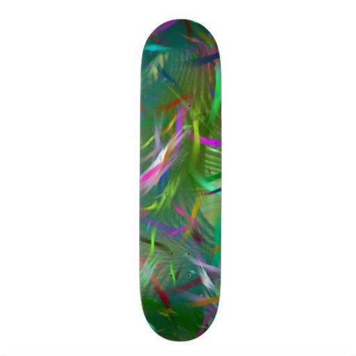 Colorful Summer Celebration Color Abstract 2 Skateboards