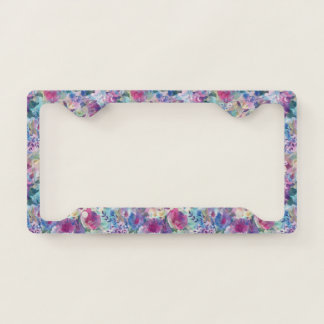 Colorful Summer Flowers Collage License Plate Frame