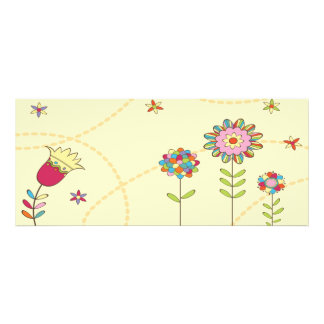 colorful summer flowers custom announcements