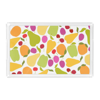 Colorful Summer Fruit Salad Acrylic Tray