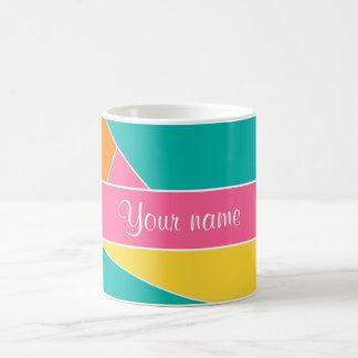 Colorful Summer Geometric Pattern Classic White Coffee Mug