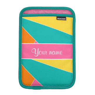 Colorful Summer Geometric Pattern iPad Mini Sleeves