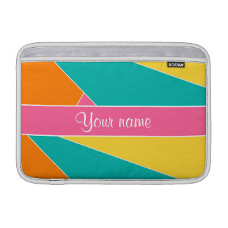 Colorful Summer Geometric Pattern MacBook Sleeve