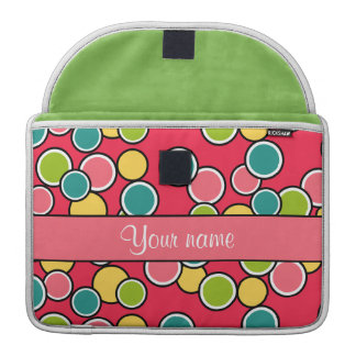 Colorful Summer Polka Dots Personalized MacBook Pro Sleeves