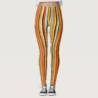 Colorful summer stripe leggings