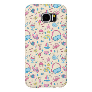 Colorful Summer Vacation Beach Pattern Samsung Galaxy S6 Cases