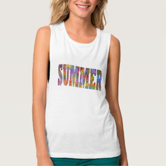 Colorful Summer Vacation Tropical Top