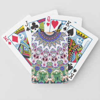 Colorful Sun Rays Bicycle Playing Cards